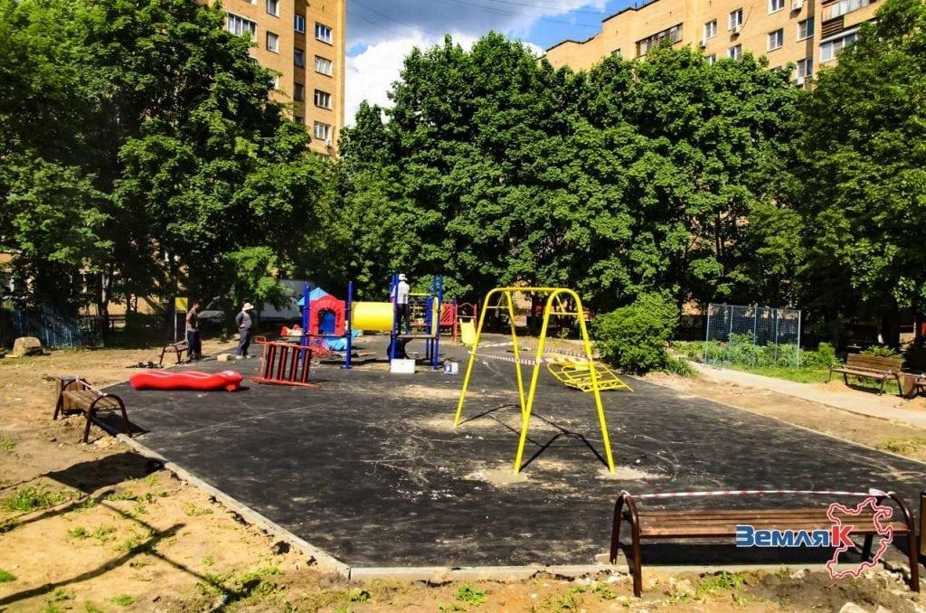 благоустройство дворов в Красногорске Московской области