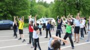 Сотрудники УМВД России по г.о. Красногорск провели акцию «Зарядка со стражем порядка»