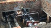 В посёлке Александрово продолжается капитальный ремонт тепловой сети