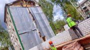 Восстановление разрушенного дома в Орехово-Зуево идет по графику и завершится к октябрю