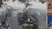 Красногорск. Пожар на складе в Гольёве